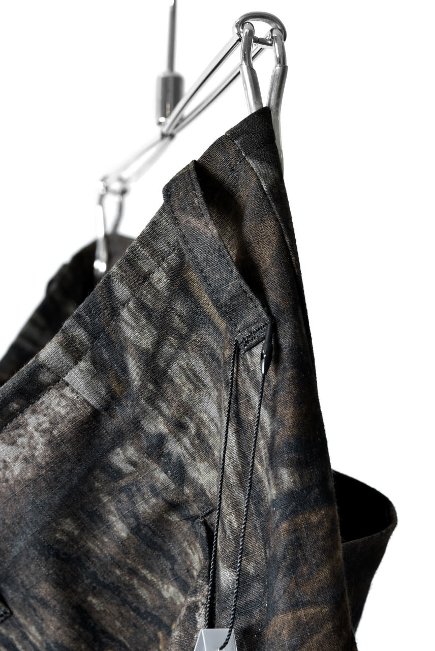 "N/07 ""MAUSK Detail"" 3-DIMENSION CURVE CROPPED PANTS (DARK CAMOUFLAGE)"