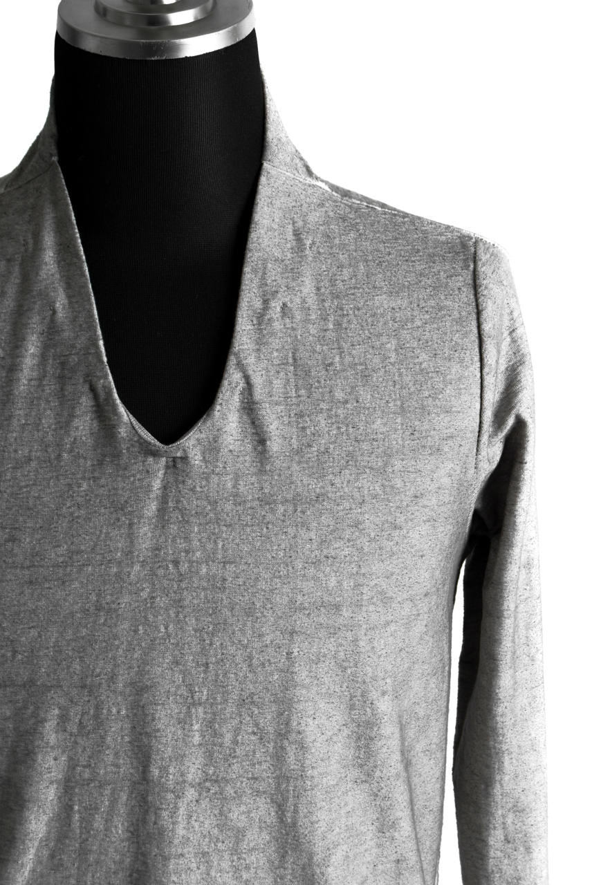 Load image into Gallery viewer, N/07 Neck Follow Jersey Tops / Sumi Ink Dyed (INK)