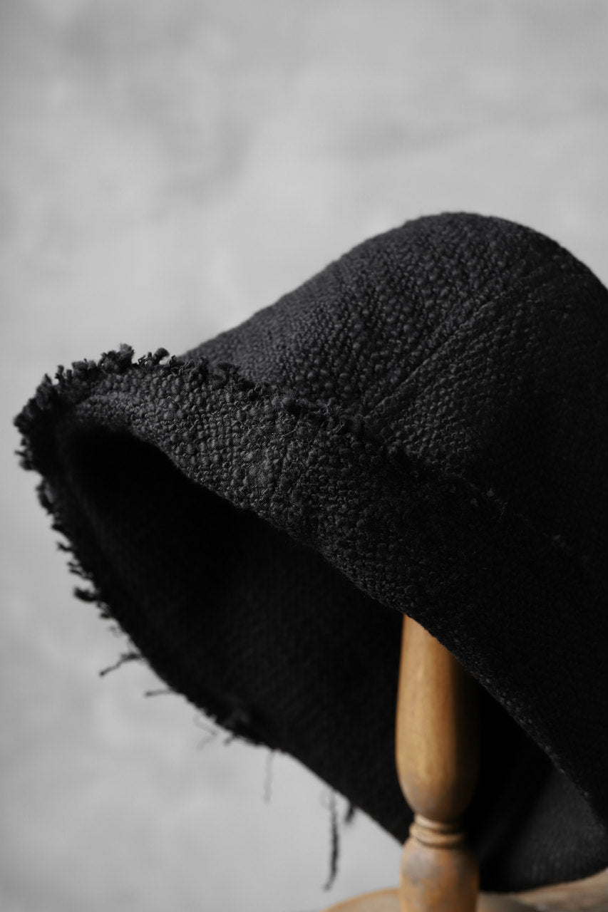 Load image into Gallery viewer, SOSNOVSKA RAW EDGES HAT (BLACK)