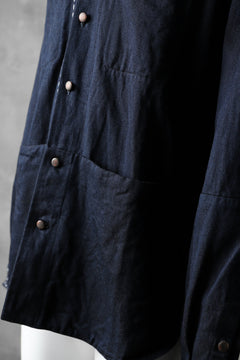 "画像をギャラリービューアに読み込む, daska ""NOBLE"" stitchwork shirt / tencel denim (INDIGO)"