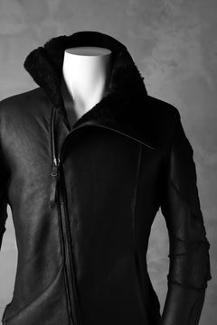 画像をギャラリービューアに読み込む, LEON EMANUEL BLANCK exclusive DISTORTION MOUTON JACKET / MERINO SHEARLING (BLACK)