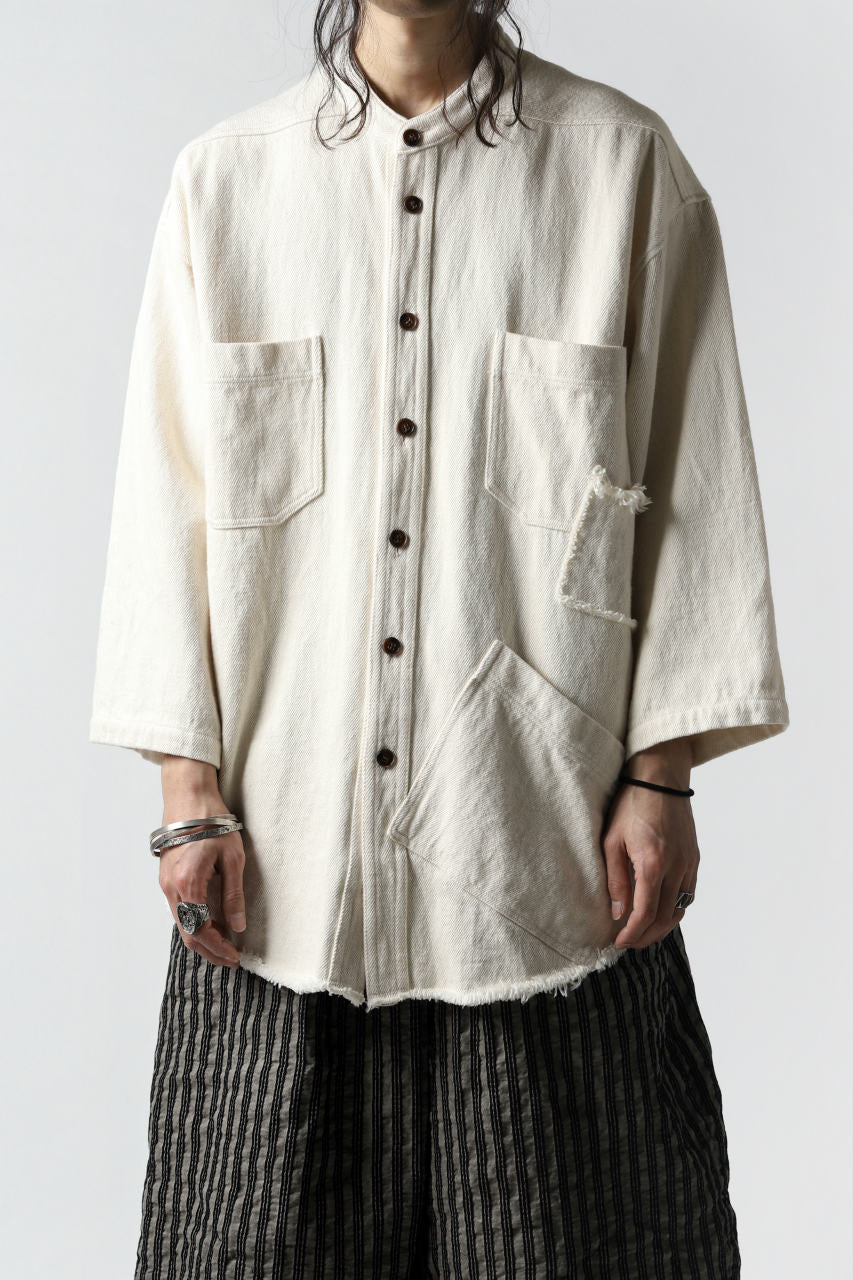 A.F ARTEFACT exclusive ENGINEER SHIRT-JKT / LOW COUNT DENIM (IVORY)