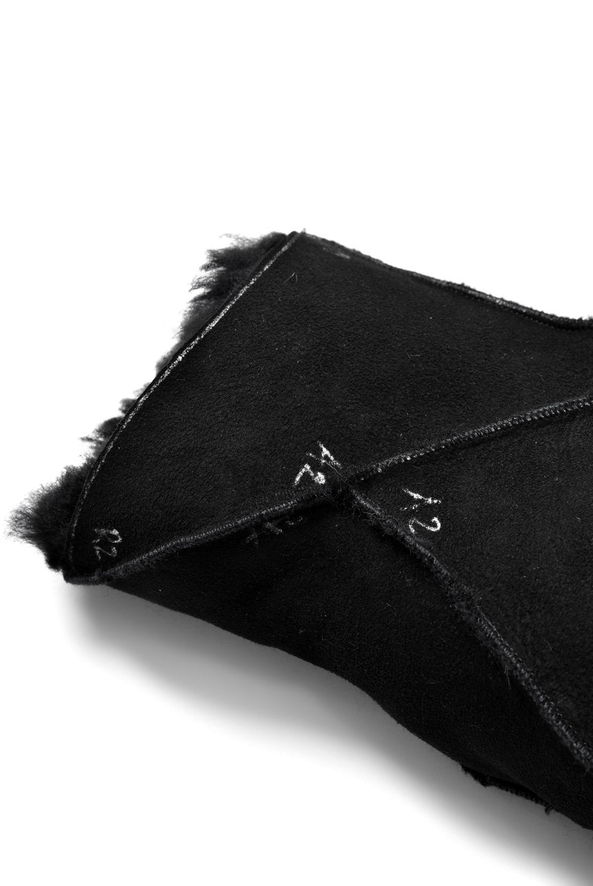 LEON EMANUEL BLANCK exclusive DISTORTION MITTEN GLOVES / CURLY MERINO SHEARLING (BLACK)