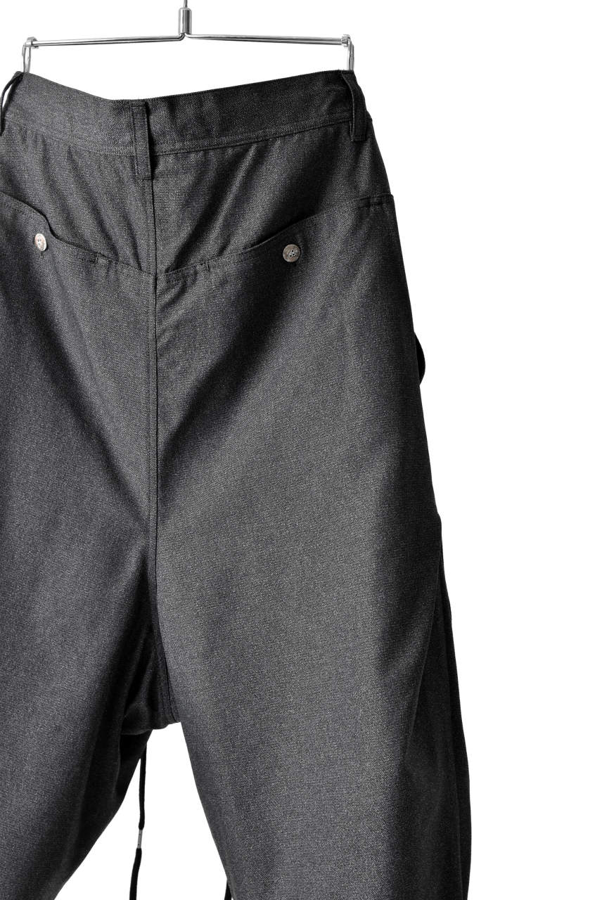 N/07 exclusive Three Dimensional Wide Pants Tuck/Dart Detail (GREY)