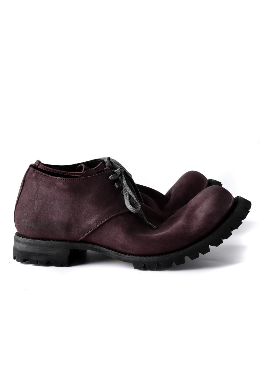 画像をギャラリービューアに読み込む, Portaille exclusive Derby Shoes / Vintage Nubuck Steer Leather / Vibram #100 (BORDEAUX)