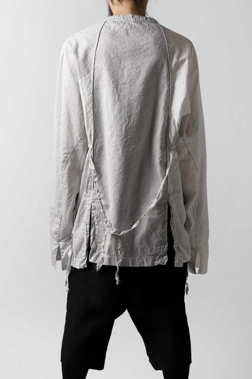un-namable Mad Dolman Shirt #1 / Silky Cotton Stripe (NATURAL)