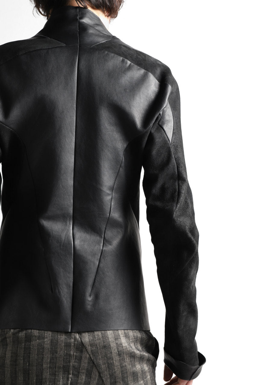 LEON EMANUEL BLANCK exclusive FORCED AVIATOR JACKET / GUIDI KANGAROO LEATHER (BLACK)