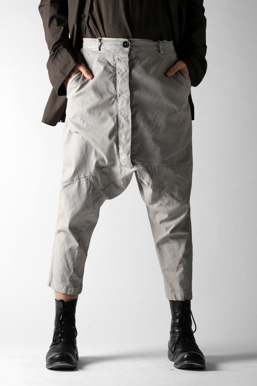 画像をギャラリービューアに読み込む, RUNDHOLZ DIP DROPCROTCH TAPERED PANTS / DYED COTTON TWILL (ZINC)