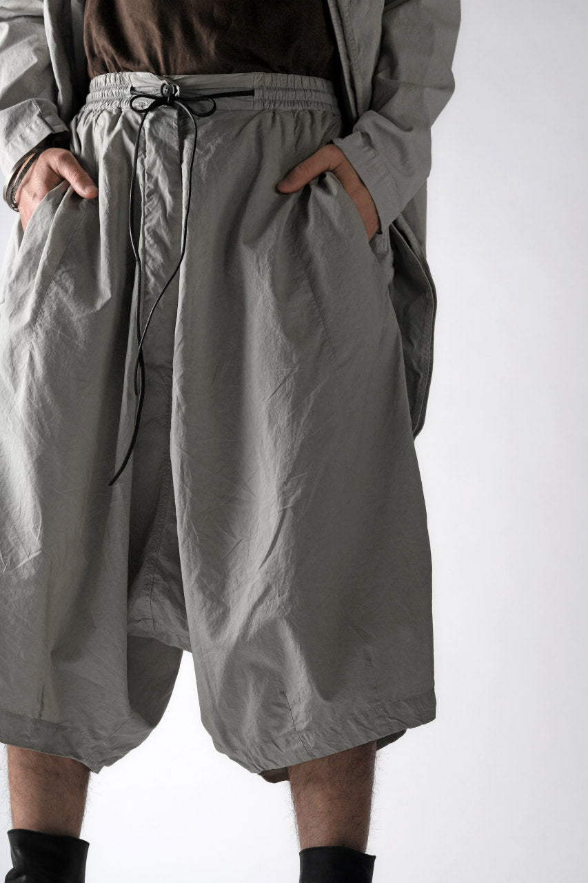 RUNDHOLZ DIP DROPCROTCH WIDE SHORTS / DYED C-CLOTH (ZINC)