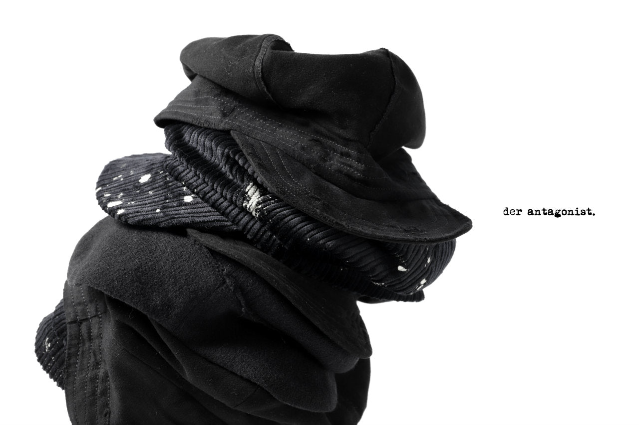 der antagonist. HAT / HERRINGBONE SOFT (BLACK)