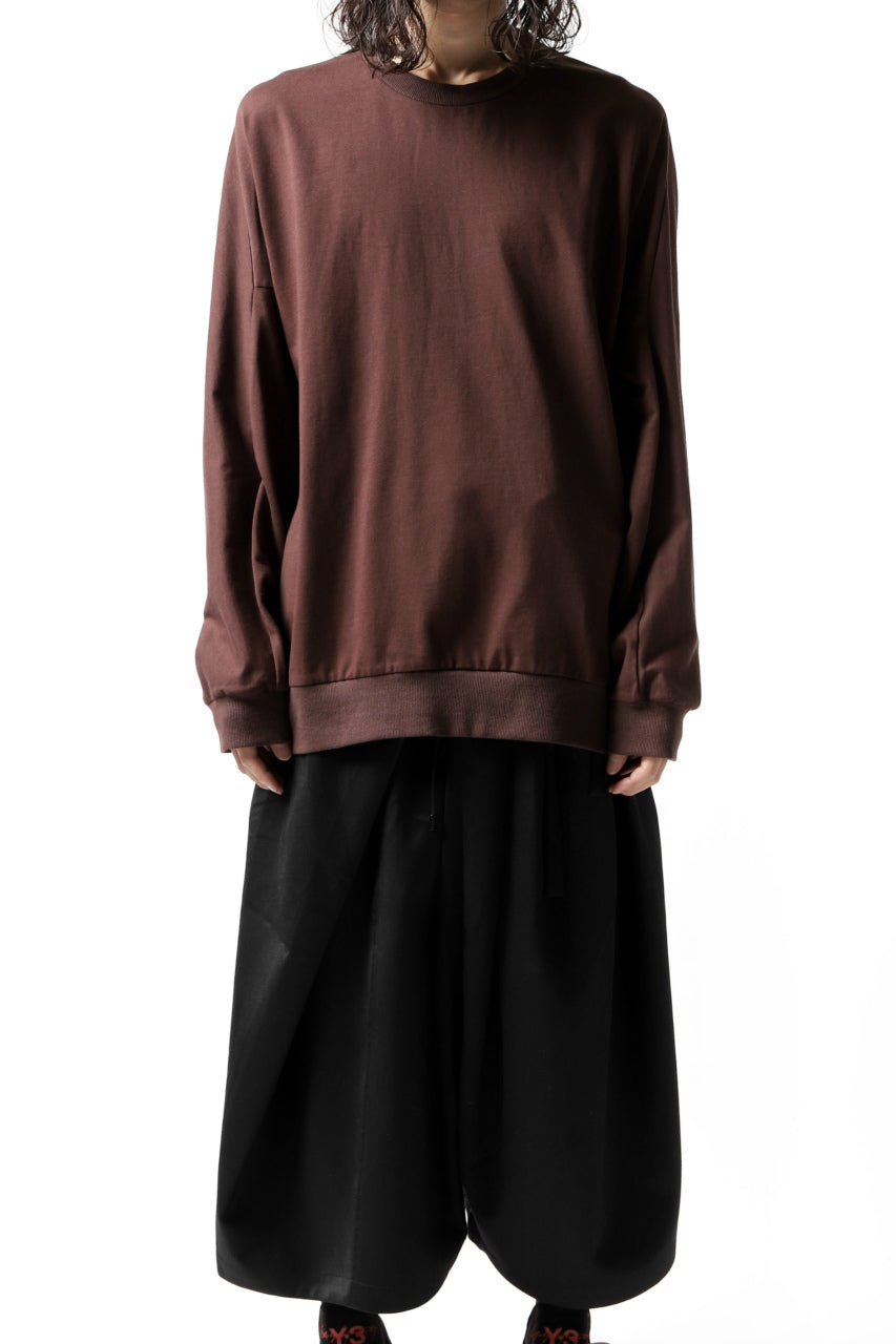 Load image into Gallery viewer, JOE CHIA OVERSIZED HUG JERSEY TOPS (BORDEAUX)