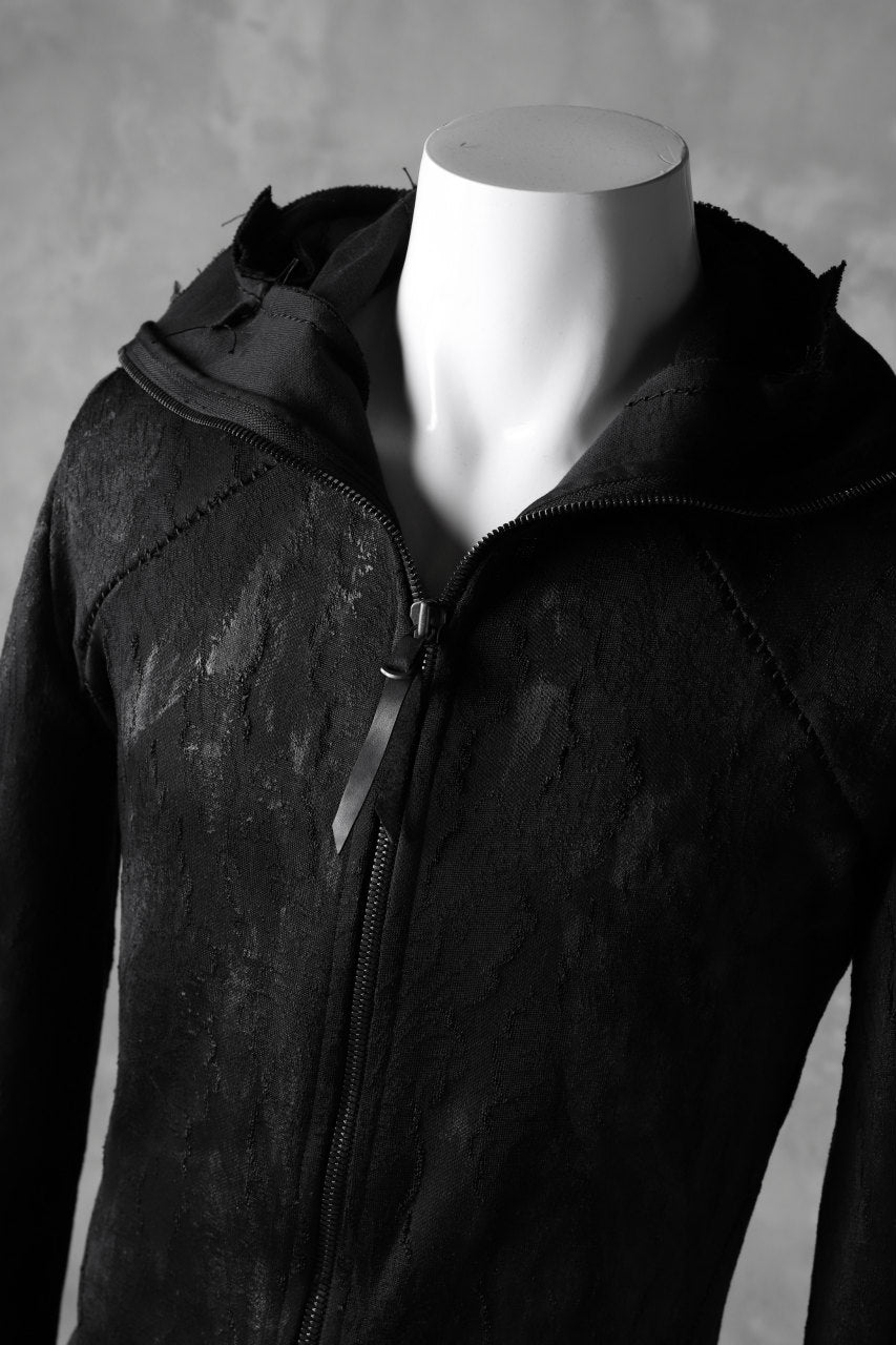 Load image into Gallery viewer, LEON EMANUEL BLANCK FORCED HOODY ZIPPED / SPHERE KNIT JACQUARD WITH LATEX