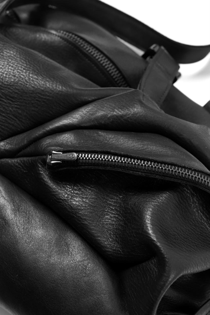 LEON EMANUEL BLANCK exclusive DISTORTION WEEKENDER BAG / GUIDI HORSE LEATHER (BLACK)