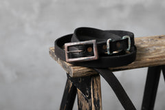 Load image into Gallery viewer, Chörds; D.A.L. LEATHER BELT / ITALY COW SHOULDER (BLACK)