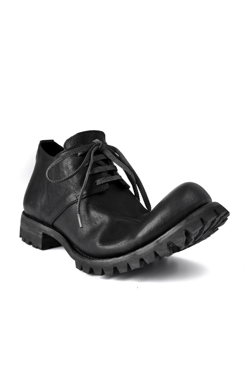 Load image into Gallery viewer, Portaille exclusive Derby Shoes / Heated Shrink Horse Leather / Vibram #100 (BLACK)