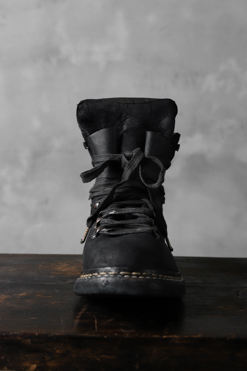 Load image into Gallery viewer, A DICIANNOVEVENTITRE A1923 Norwegian Laced Boots SH2 / Cavallo Oilo (NERO)