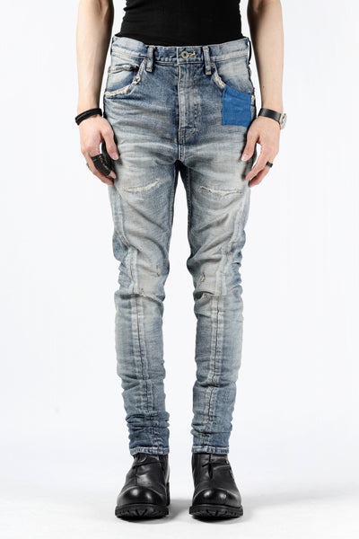 ISAMU KATAYAMA BACKLASH LOW CROTCH SLIM PANTS / STRETCH DENIM (INDIGO)
