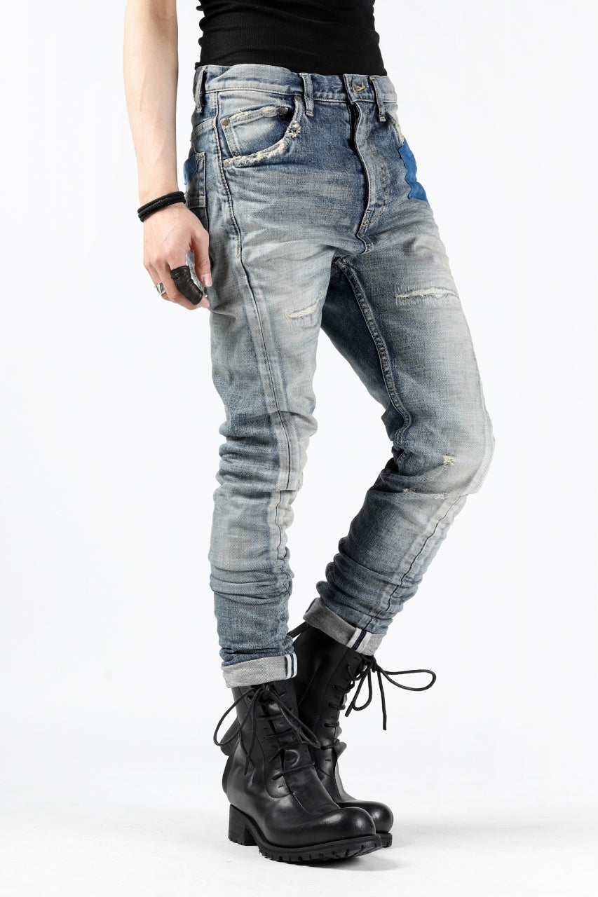 ISAMU KATAYAMA BACKLASH L/C SLIM DENIM PANTS / NATURAL USED FADE (INDIGO)