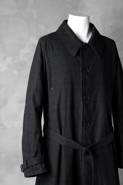 画像をギャラリービューアに読み込む, KLASICA DARK CHECK FR-US'40 COAT / WASH OUT MIX WEAVE (DARK CHECK)