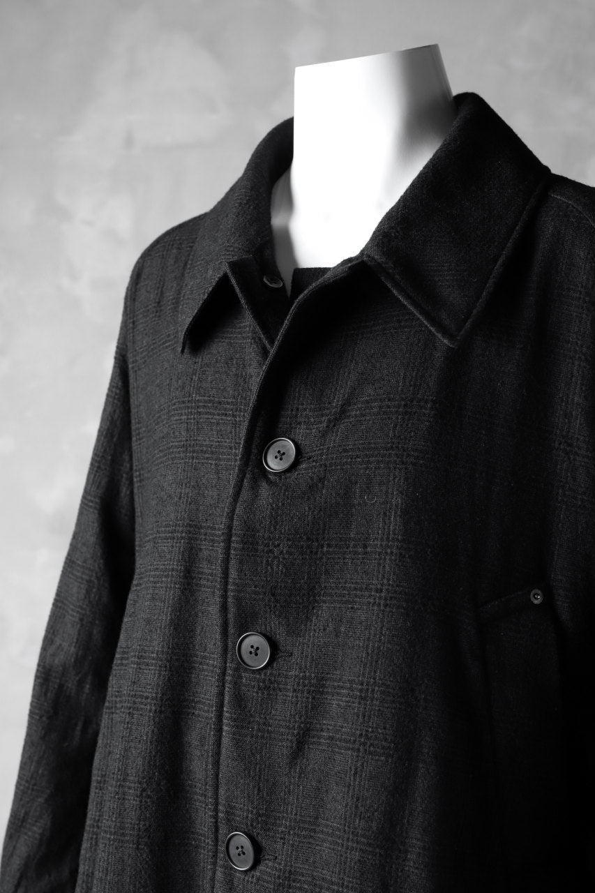 KLASICA DARK CHECK FR-US'40 COAT / WASH OUT MIX WEAVE (DARK CHECK)