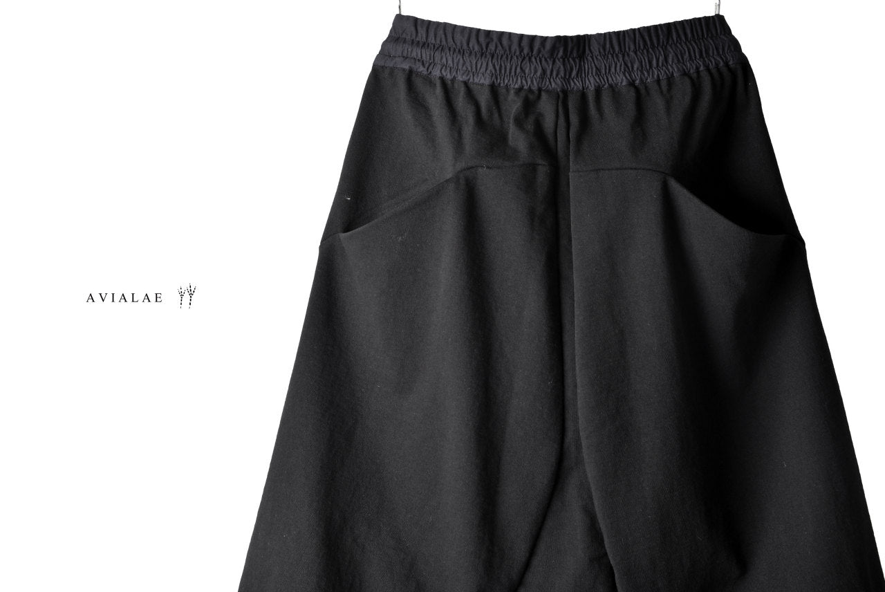 AVIALAE JERSEY SARROUEL SHORT PANTS (BLACK)