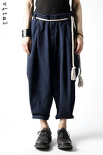 画像をギャラリービューアに読み込む, _vital exclusive roped tuck pants / low count denim