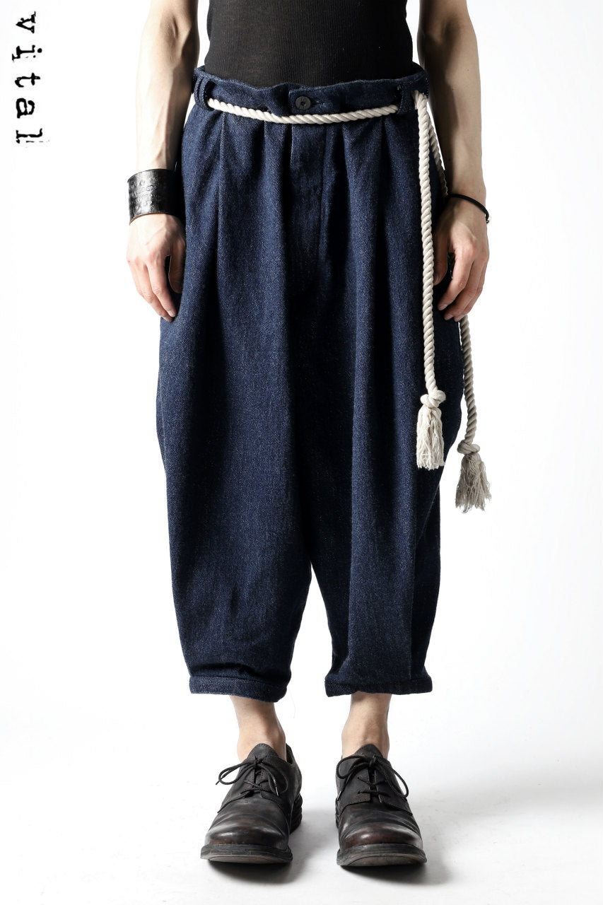 _vital exclusive roped tuck pants / low count denim