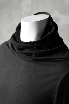 画像をギャラリービューアに読み込む, RUNDHOLZ DIP DRAPE TURTLE NECK LONG SLEEVE TEE (CARBON DYED)