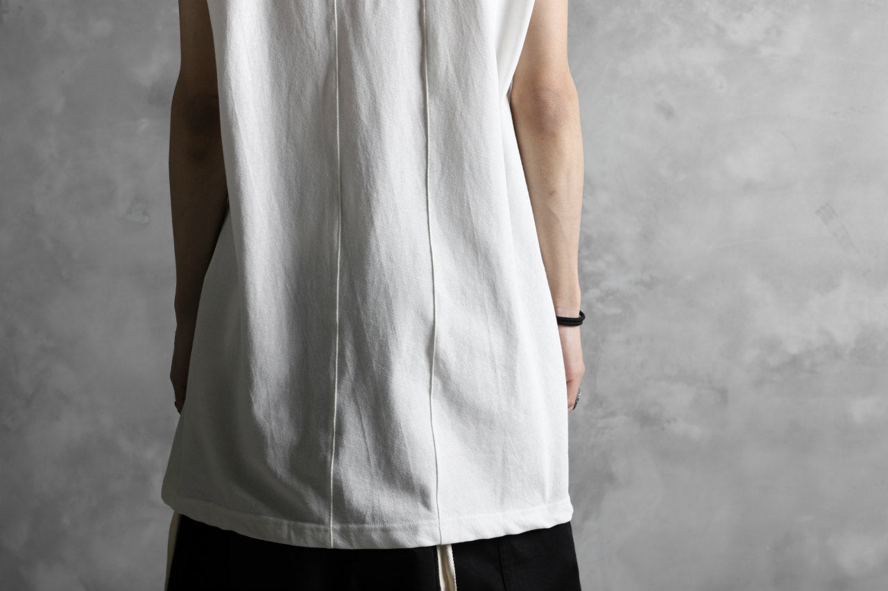 KLASICA LUNG CAP SLEEVE LONG  CUT & SEWN / DRY TWILL JERSEY (WHITE)