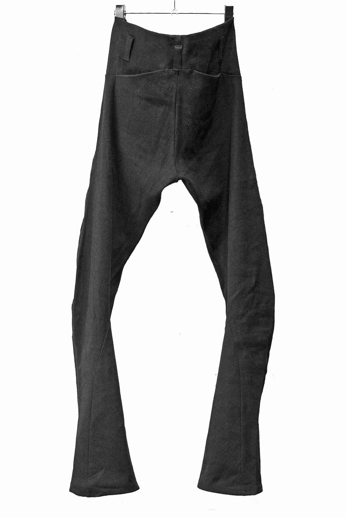 N/07 anatomy 3dimention pants extra stretch silk linen fabric (BLACK)