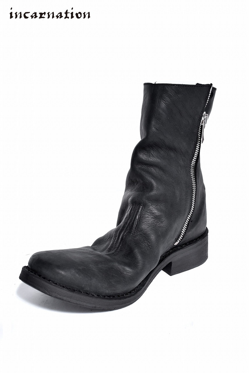 "incarnation exclusive one piece side fastner boots lined "" GUIDI VITELLO FIORE OPACO"""