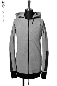 画像をギャラリービューアに読み込む, N/07 RUBBERIZED HOODIE JACKET / HYPER STRETCH SWEAT (GREY)