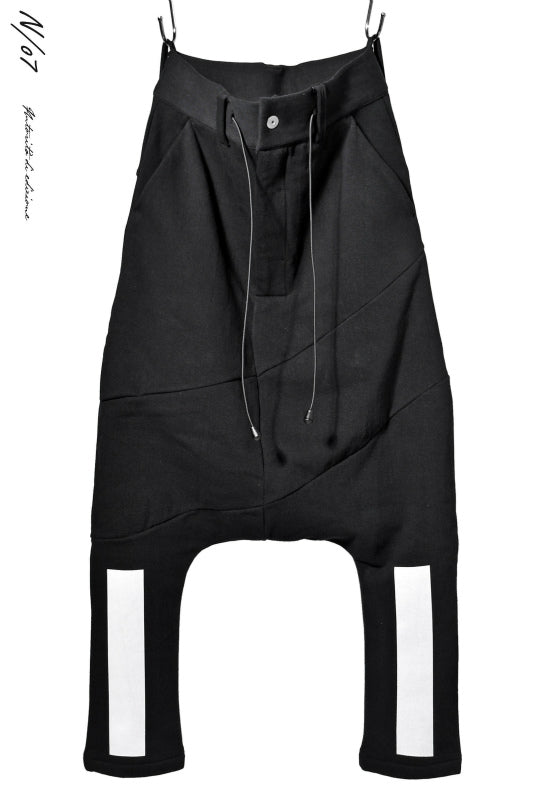 Load image into Gallery viewer, N/07 RUBBERIZED SARROUEL PANT / HYPER STRETCH SWEAT (BLACK)