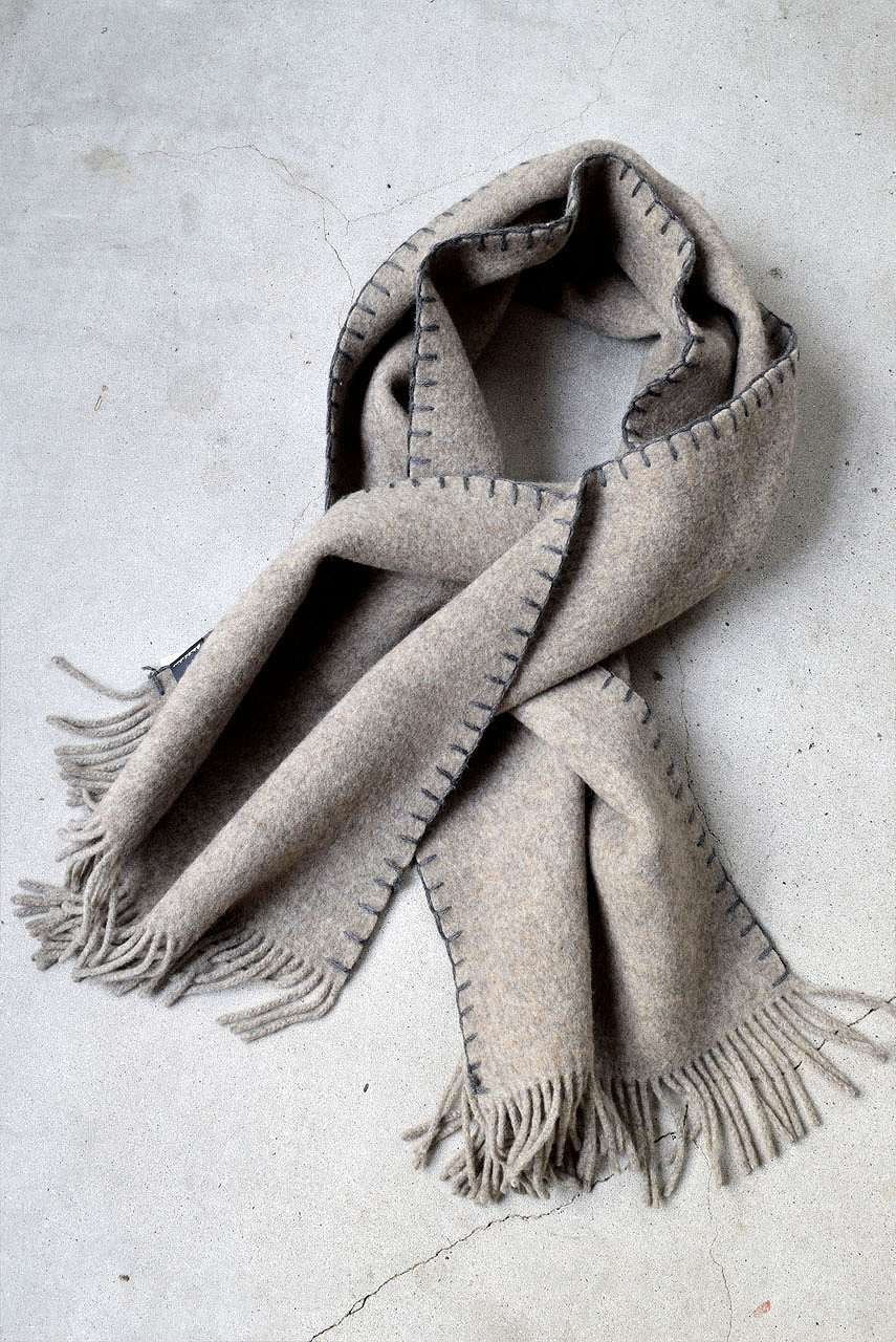 Load image into Gallery viewer, Syouichi Sasa×N/07 BLANKET#04 (BEIGE×GREY)