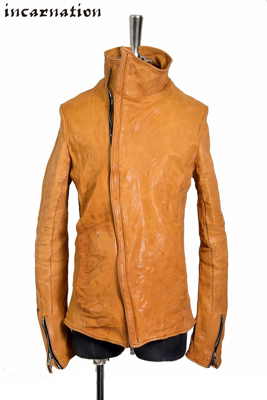 incarnation Horse Leather H/N Bias Zip/F Blouson (YELLOW)