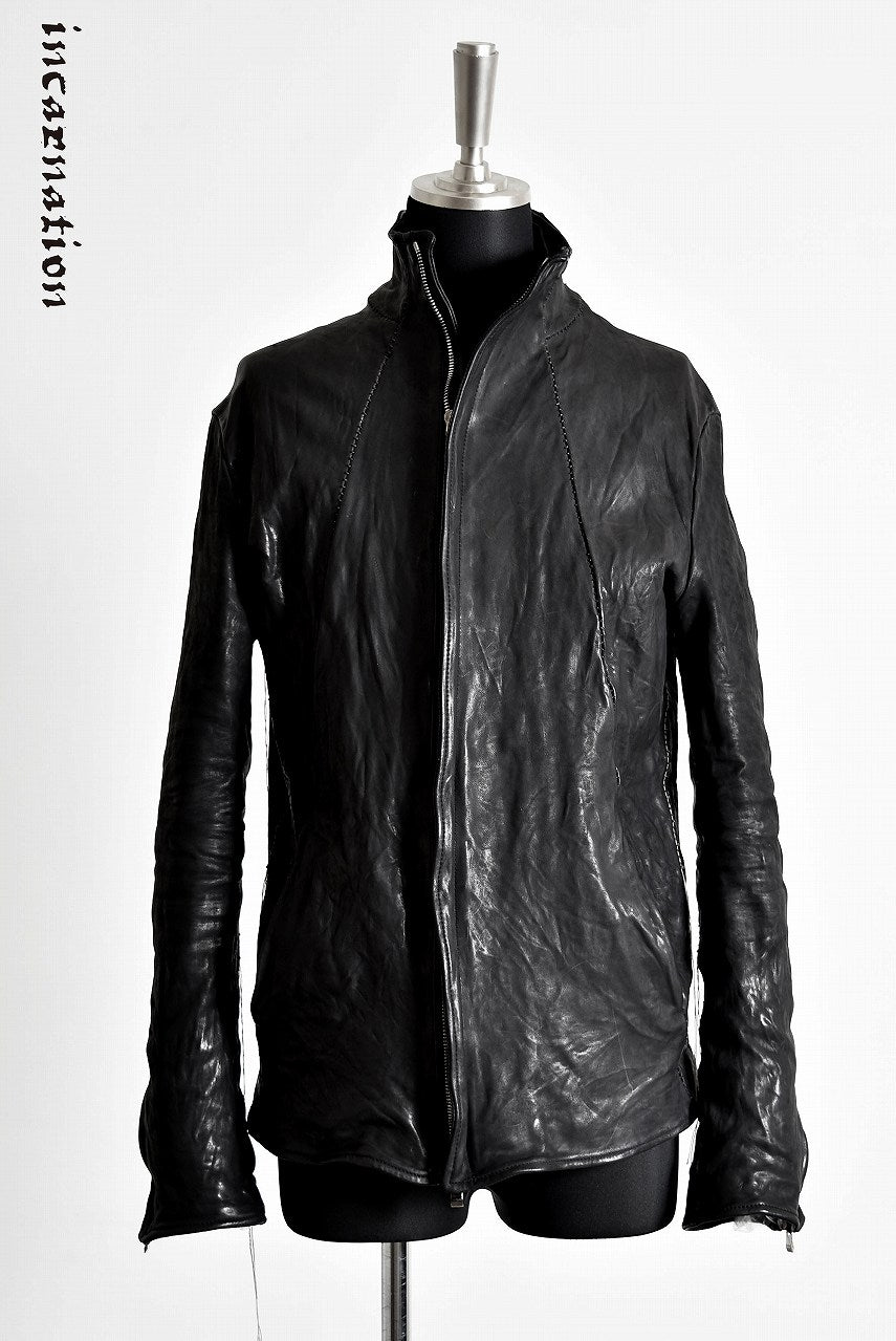 "incarnation HORSE LEATHER ZIP/F RIDER JACKET LINED ""OVERLOCKED"""