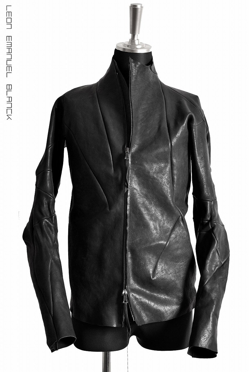 LEON EMANUEL BLANCK DISTORTION AVIATOR JACKET / GUIDI MUSTANG HORSE (BLACK)