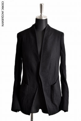 CEDRIC JACQUEMYN  SHAWL COLLAR SUIT JACKET JA59B FA163 (BLACK)