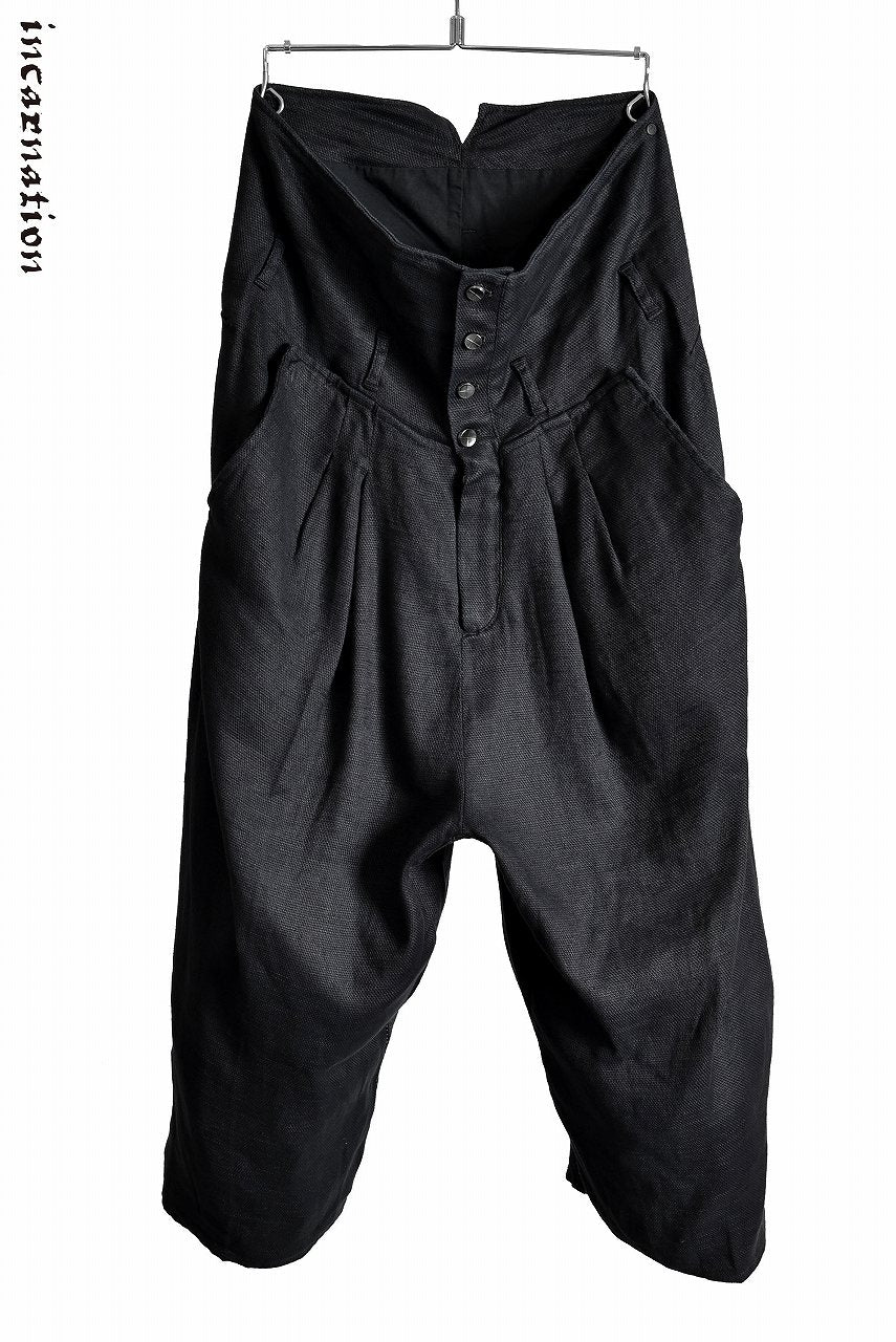 "incarnation ""OVER LOCKED"" High Waist Wide Cropped Pants"