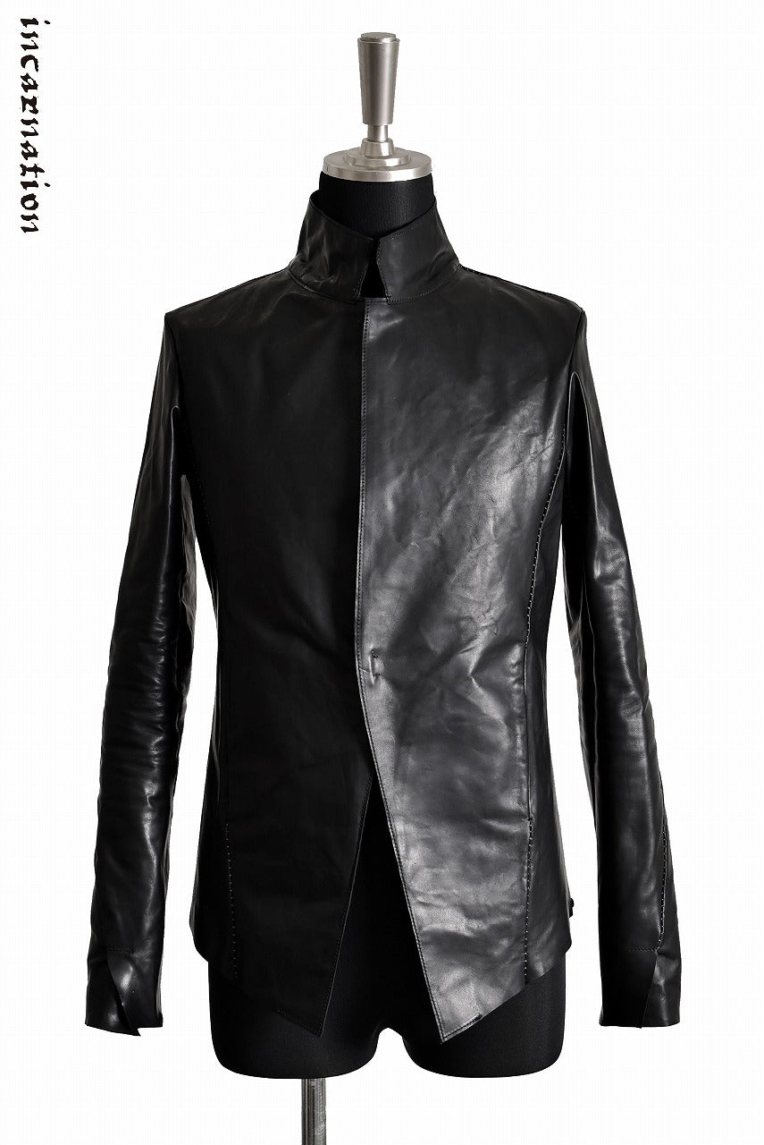 "incarnation exclusive ""OILED HORSE LEATHER"" ""OVER LOCKED"" 1 Hook Jacket"