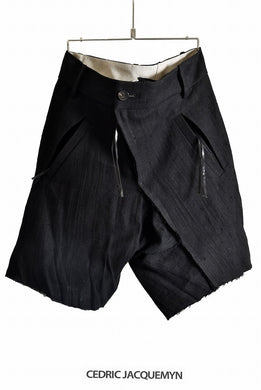 CEDRIC JACQUEMYN  TWISTED DECOUP SHORTS TR52 FA212B (BLACK)