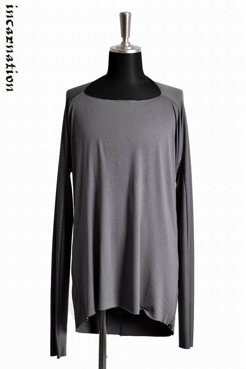 "Load image into Gallery viewer, incarnation VISCOSE SPANDEX ""OVERLOCKED"" DRESS DORMAN LONG SLEEVE T-SHIRT (GREY)"