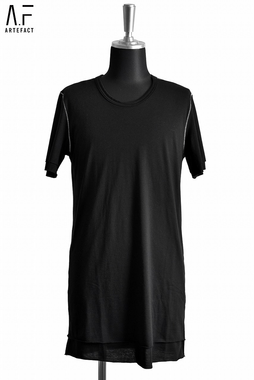 Load image into Gallery viewer, A.F ARTEFACT DOUBLE LAYERD TEE OVERLOCKED (BLACK)
