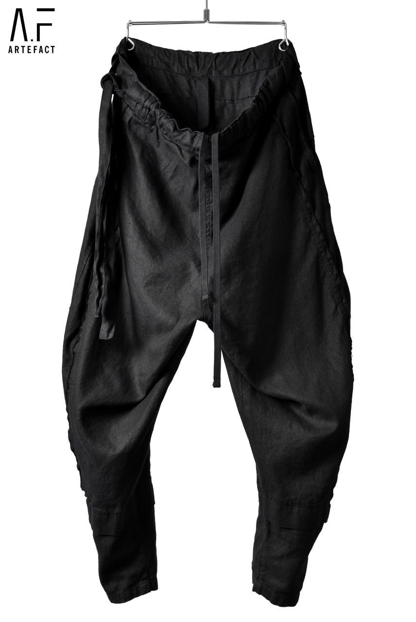 "Load image into Gallery viewer, A.F ARTEFACT WIDE-JODPHURS TROUSERS ""THRENE DYED"""