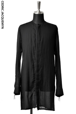 CEDRIC JACQUEMYN COLLARLESS SIDE SLIT SHIRT SH31 FA135B (BLACK)
