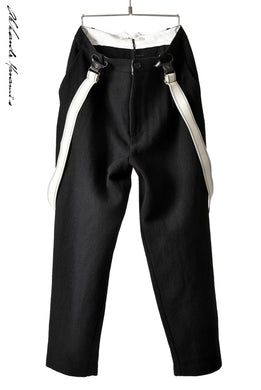 Aleksandr Manamis WOOL/LINEN WOVEN TAILORED PANT with SUSPENDERS