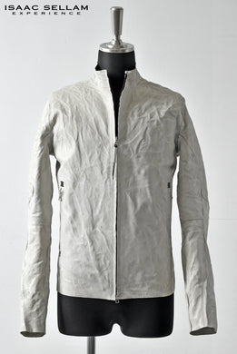 ISAAC SELLAM EXPERIENCE SEAMLESS-CRASSE POUILLE / LEATHER JACKET (DIRTY WHITE)