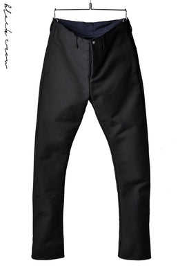 blackcrow trousers heavy moleskin with SV button (BLACK)