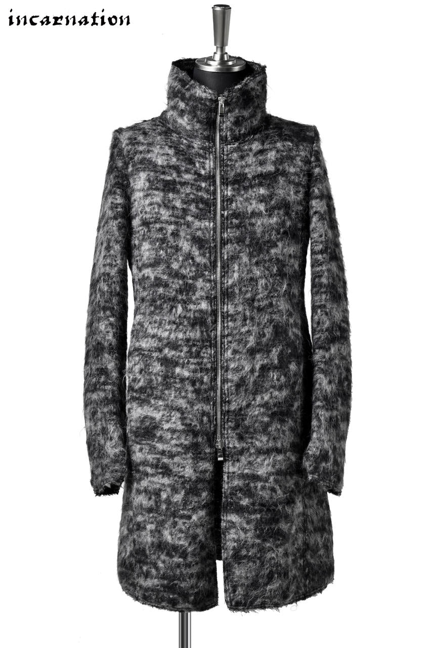 incarnation WOOL STRETCH ZIP FRONT COAT