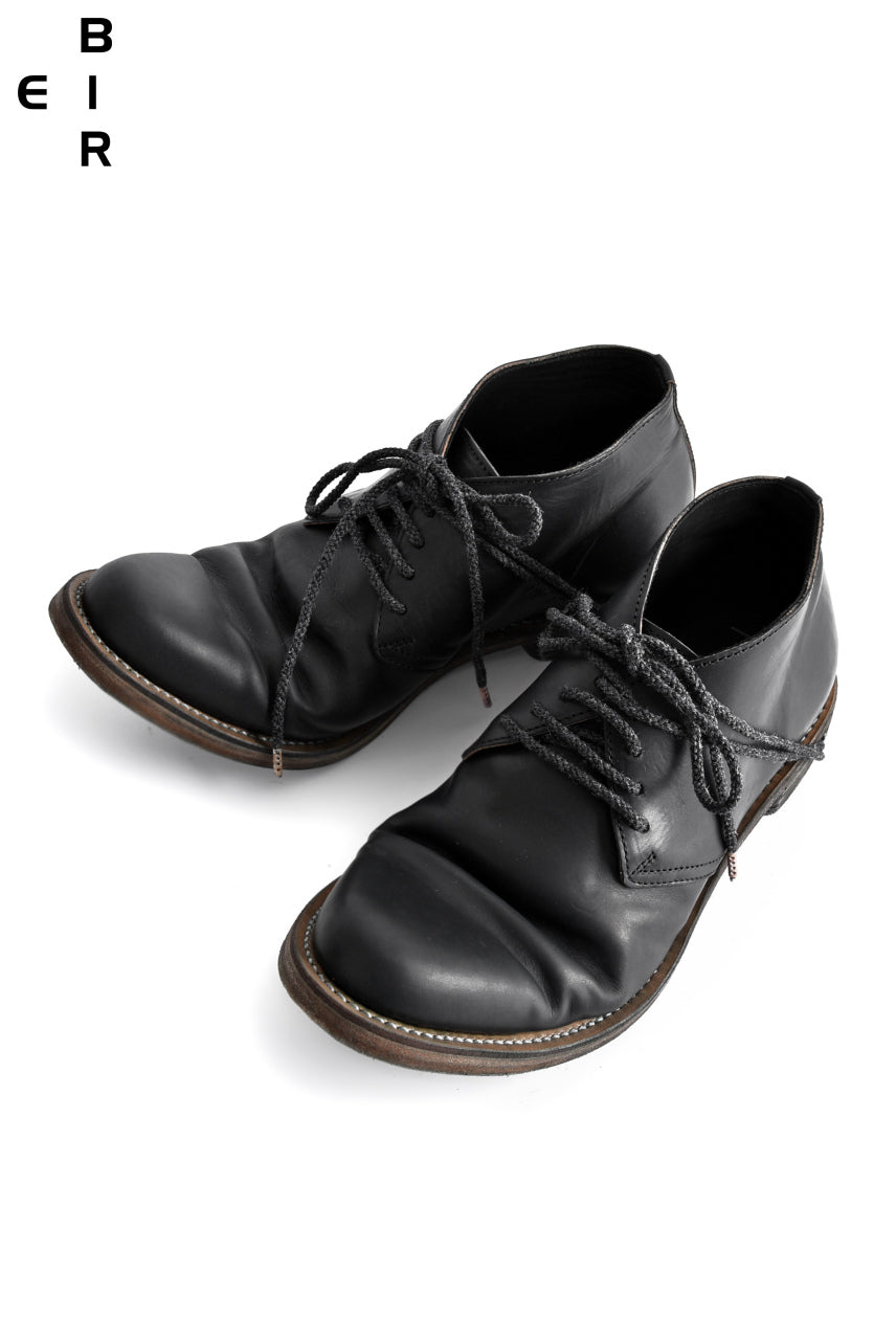 ierib tecta derby shoes / GUIDI fiore calf (BLACK)